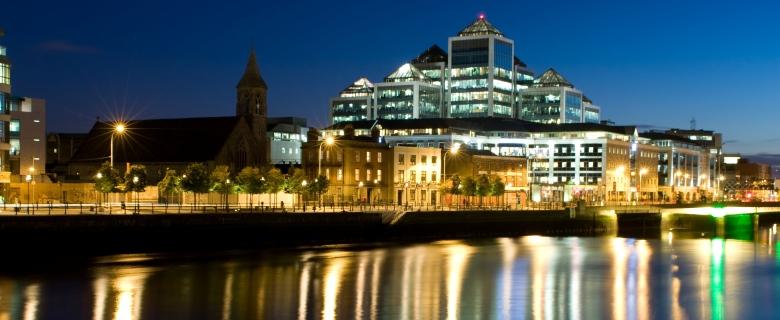 PTI partners - Dublin Docklands at Night